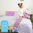 COOL涼感平單式5尺雙人針織涼墊-紫(不含枕墊)台灣製|保潔墊|TTRI涼感測試|SGS檢驗