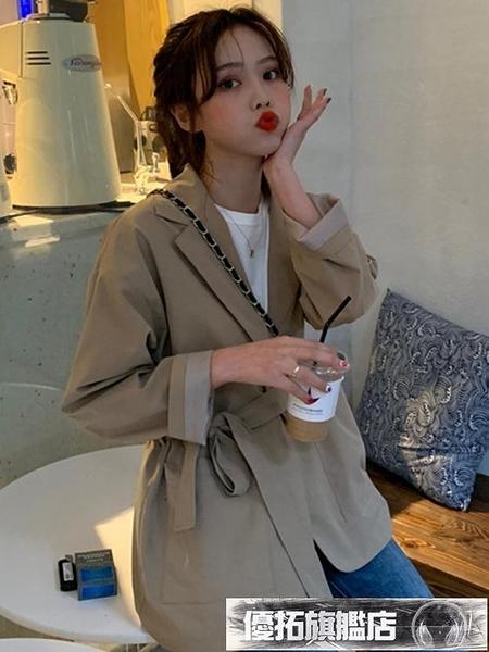 西裝 夏裝韓版寬鬆百搭顯瘦小西裝外套女網紅ins休閒中長款西服上衣潮