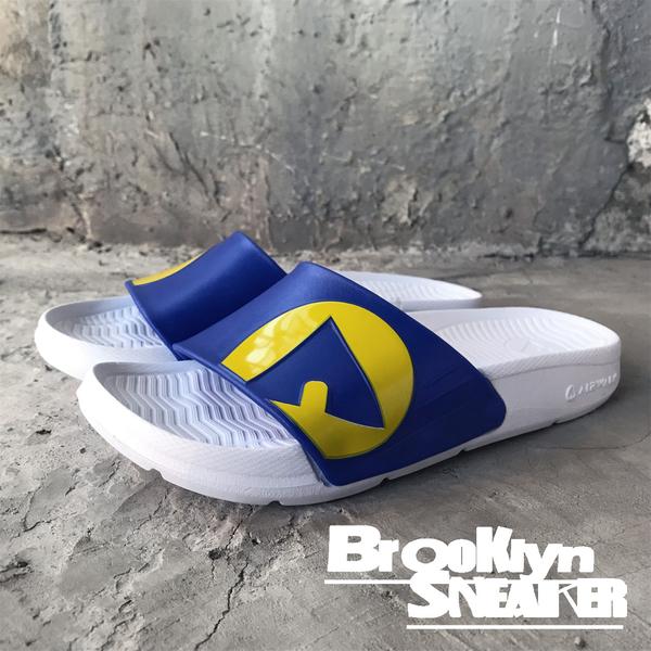 AIR WALK 白藍黃 IKEA配色  橡膠  男女 情侶鞋  (布魯克林) A511220-204