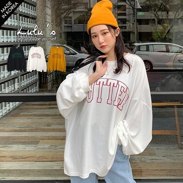 LULUS-D韓製-BUTTER字母寬鬆上衣-3色  【01190724】