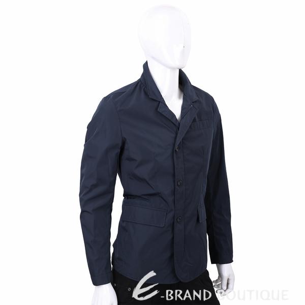 TRUSSARDI 藍色西裝式剪裁防風夾克 1720318-34