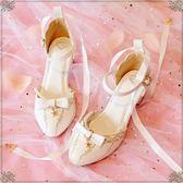 618大促洛麗塔鞋子學生可愛日系少仙女的蘿莉圓頭中高跟Lolita軟妹涼鞋