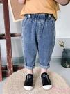 男童牛仔褲子潮 洋氣百搭潮褲寶寶韓版時尚長褲兒童春秋裝