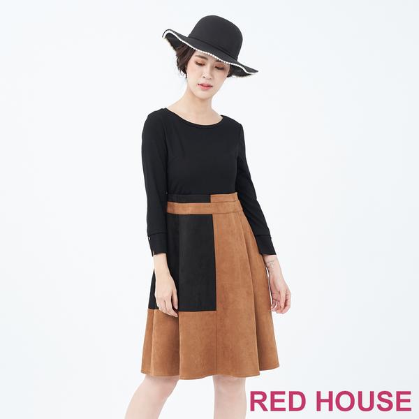 RED HOUSE-蕾赫斯-拼色剪裁洋裝(共兩色)