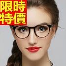 眼鏡架歐美休閒-超輕復古圓框潮流女鏡框6色64ah4【巴黎精品】