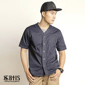 【BTIS】棒球襯衫 / 丈青色