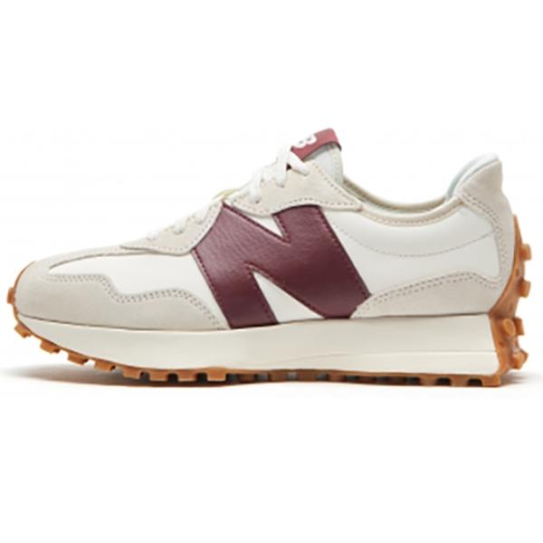 【現貨】New Balance 327 女鞋 慢跑 休閒 復古 拼接 皮革 酒紅【運動世界】WS327KA