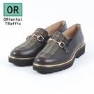 金屬釦飾厚底樂福鞋