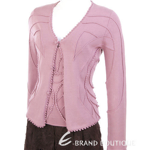 ROBERTA SCARPA 深粉色立體織紋兩件式上衣 0550154-05