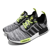 【六折特賣】adidas 休閒鞋 NMD_R1 黑 白 綠 女鞋 反光 襪套式 運動鞋【PUMP306】 F97321