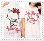 ♥ 小花花日本精品♥ Hello Kitty KT長版帽T/棉T/休閒/氣質-白色 32082807