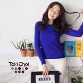 東京著衣-tokicho-素色羅紋針織上衣(5024456)