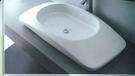 【麗室衛浴】 洗臉盆 英國 LIVING  2450 檯上盆 100*47*15cm