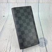BRAND楓月 LOUIS VUITTON LV 路易威登 N62665 經典黑色棋盤格 長夾 錢包 錢夾