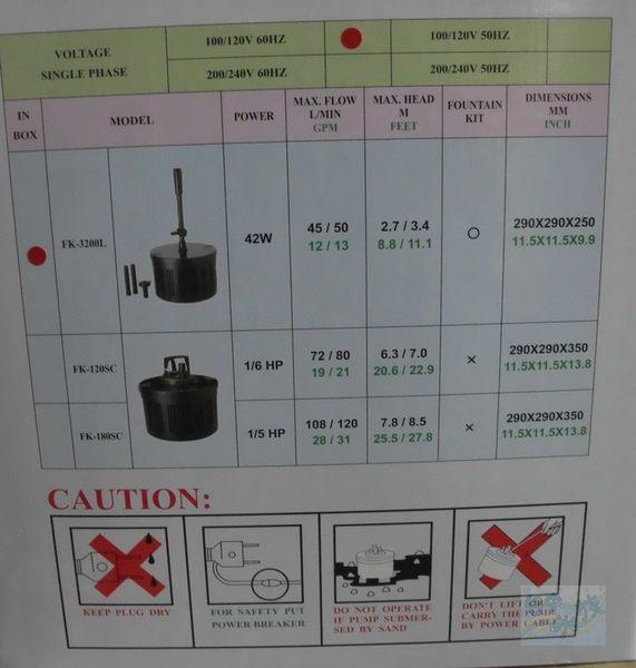 {台中水族}C-AO -FK3200L型相思燈-魚池過濾器 特價