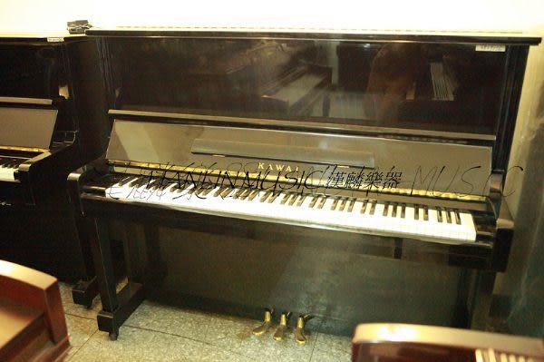 【HLIN漢麟樂器】-日本原裝kawai河合123號直立式中古二手鋼琴-原木-亮黑-豪華46