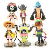 全6款海賊王公仔 紅衣海賊 魯夫 索隆 喬巴 模型玩具 蛋糕擺件 烘焙裝飾