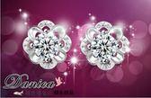 耳環 現貨 專櫃CZ鑽 氣質 甜美 奢華 微鑲 花朵 925銀針 S92287 Danica韓系飾品 韓國連線