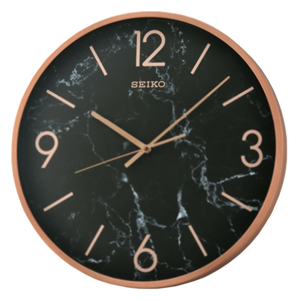SEIKO 精工掛鐘 QXA760P 優雅大理石紋掛鐘 鋁質 40.5公分