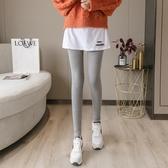 網紅加絨打底褲女外穿秋冬季裙褲一體假兩件高腰顯瘦緊身褲潮 韓國時尚週