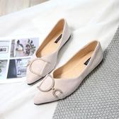【YPRA】豆豆鞋平底鞋媽媽鞋懶人鞋一腳蹬休閒鞋女鞋