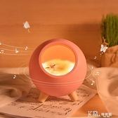 創意充電卡通小夜燈可愛萌貓小寵屋usb觸摸氛圍燈臥室兒童led檯燈 Korea時尚記