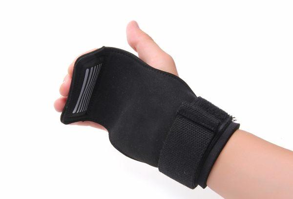KHUITEN 牛皮款護掌(黑色) 拉力帶 加厚護腕 助力帶 握力帶