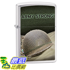 [美國直購] Zippo Pocket Lighter Army Strong Windproof Lighter, Brushed Chrome 打火機