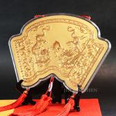 神明金牌-春秋雙龍祝壽(特大)-28cm (0.20錢)