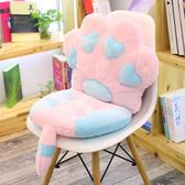 連體坐墊靠墊一體辦公室椅墊地板加厚學生座墊餐椅板凳子屁股墊子