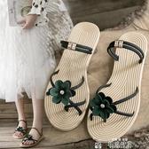 新款夏季搭配長裙子的晚晚涼鞋仙女風平底網紅學生百搭潮 新年禮物