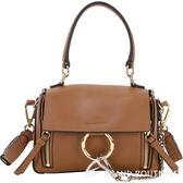 CHLOE Faye Day 迷你款 小牛皮手提肩背兩用包(棕褐色) 1840204-B3