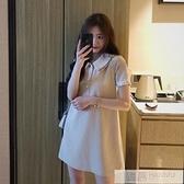 洋裝 韓版裙子森系仙女超仙甜美Polo很仙法國小眾連身裙夏  韓慕精品