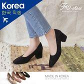 靴.小方頭高跟鞋(杏、棕)-FM時尚美鞋-韓國精選.MICRO