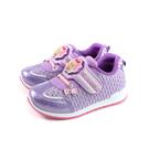 偶像學園 運動鞋 電燈鞋 紫色 魔鬼氈 中童 童鞋 ID5237 no833