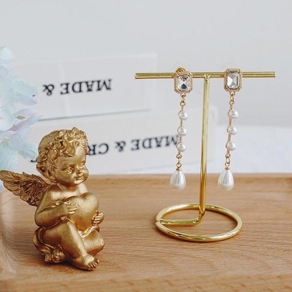 【BlueCat】T型金屬飾品收納架 拍照道具 陳列架 耳環 項鍊擺拍 首飾架 展示架 電鍍 金屬