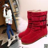 雪地靴  大碼短靴防滑底保暖雪地靴女靴 都市時尚