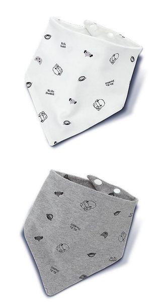 KUKU酷咕鴨  嗶嗶猴雙面三角領巾(2入)  KU2240