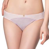 思薇爾-花紗物語樂活風系列M-XL低腰三角內褲(搖籃紫)