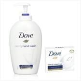 德國DOVE乳霜潔膚香皂-(135g*12)+洗手乳(250m)*3