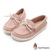 Hush Puppies Albatross 柔軟牛皮休閒鞋-粉紅