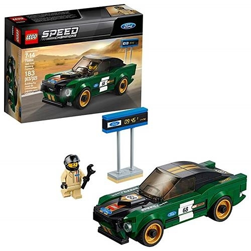 LEGO 樂高 Speed Champions 1968 Ford Mustang Fastback 75884 Building Kit (183 Piece)