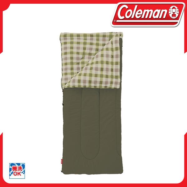 【Coleman EZ 橄欖葉刷毛睡袋睡袋/C0】33802/露營/可拆式/化纖睡袋/信封型睡袋/單人睡袋