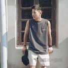 夏季寬鬆坎肩背心男港風oversize無袖t恤薄款韓版運動男生上衣服 夏季狂歡