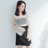 IN' SHOP性感簡約愛心露肌感外罩式上衣-共2色【KT220872】