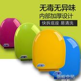 彩色馬桶蓋通用加厚坐便器蓋緩降老式圈座便蓋PP蓋板O U型V型配件 韓語空間 igo
