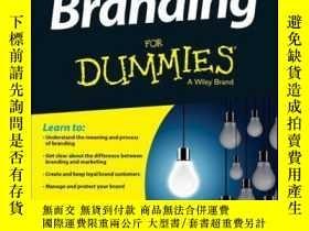 二手書博民逛書店Branding罕見For Dummies, 2nd EditionY410016 Bill Chiarava