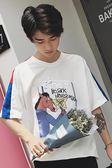 新款ins短袖T恤情侶裝半袖韓版學生寬鬆潮流男士衣服文藝 俏腳丫