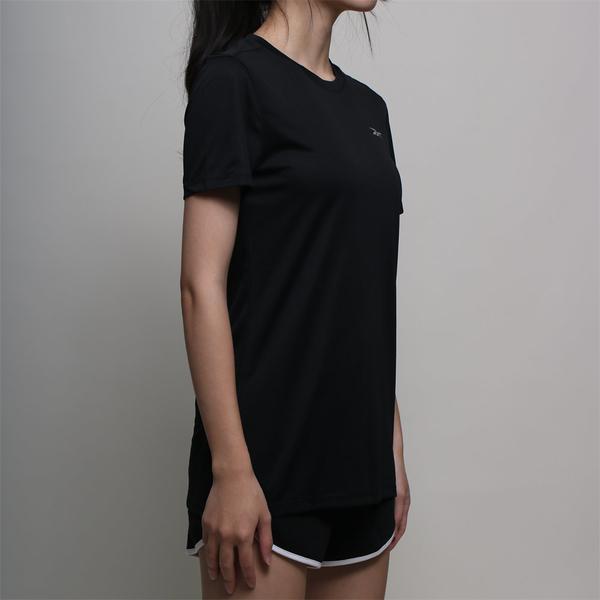 REEBOK 短T 短袖 SPEEDWICK 運動 反光 黑 休閒 女 (布魯克林) FU1349