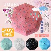 自動開合碳纖維抗UV變色晴雨傘-96公分抗紫外線UPF50+~雨天變色~勝反折傘(5色任選)【KB10002】